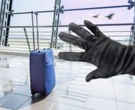 Vol d'une valise Image stock