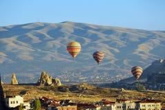 Vol de ballon, Cappadocia, Turquie Photographie stock libre de droits