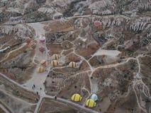 Vol de ballon dans la dinde de Cappadocia Images stock