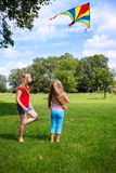 Vol de cerf-volant Photos libres de droits