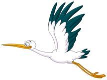 Vol de cigogne illustration de vecteur