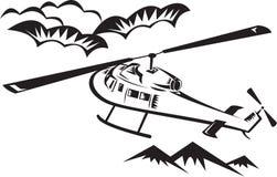 Vol de découpeur d'hélicoptère illustration de vecteur