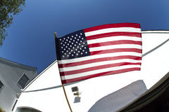 Vol de drapeau américain Image libre de droits