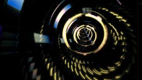Vol de fond dans le tunnel de la science fiction rendu 3d Image stock