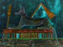 Vol de Horus semblant terre-à-terre illustration de vecteur