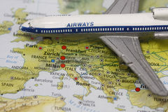 vol de l'Europe à Photographie stock libre de droits