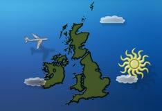 vol de la Grande-Bretagne au-dessus d'été Image libre de droits