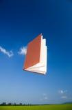 Vol de livre dans le ciel Photos stock