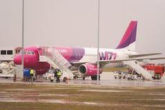 Vol de Londres vers Lublin, 5 janvier 2013 Images libres de droits