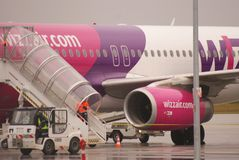 Vol de Londres vers Lublin, 5 janvier 2013 Image stock