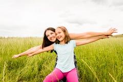 Vol de mère et d'enfant Image libre de droits