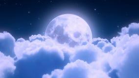 Vol de nuages de nuit Image stock