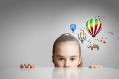 Vol de rhinocéros sur des ballons Image libre de droits