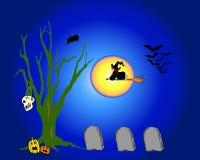 Vol de sorcière illustration stock