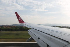 Vol de Turkish Airlines Images stock