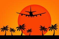 Vol de vacances illustration de vecteur