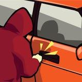 Vol de véhicule Image stock