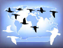 Vol du monde Image stock