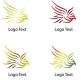 Vol Eagle, logo de société avec la diverse couleur illustration stock