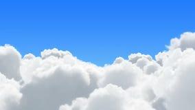 Vol en nuages Images libres de droits