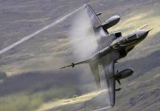 Vol inférieur d'aéronefs de jaguar de RAF Images stock