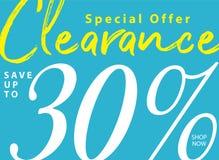 vol. 5 Liquidation 2 conception de titre de 30 pour cent pour la bannière ou illustration de vecteur