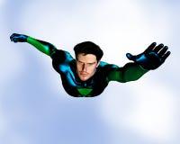 Vol mâle de Superhero Photos libres de droits