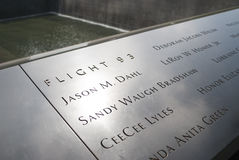 Vol 93 9/11 mémorial Photos stock