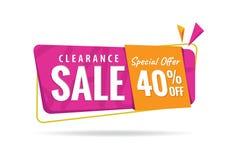 vol. Naranja rosada de 2 liquidaciones diseño del título del 40 por ciento para Imagen de archivo libre de regalías