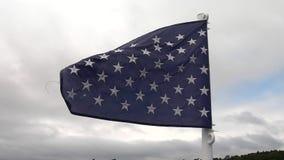 Vol nautique de drapeau dans la brise banque de vidéos
