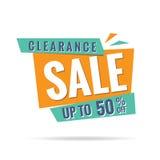 vol. Orange de vert de liquidation 3 conception de titre de 50 pour cent pour Image stock