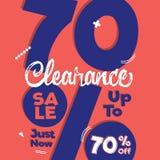 vol. Orange pourpre de liquidation 4 conception FO de titre de 70 pour cent Illustration Stock