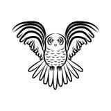 Vol Owl Silhouette illustration de vecteur
