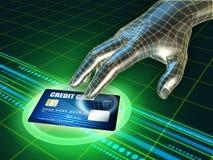 Vol par la carte de crédit Photos libres de droits