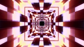 Vol qualité de vr de données de cyber de lampes au néon de nouvelle de tunnel de mouvement de graphiques d'animation de boucle sa illustration stock