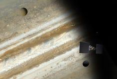 Vol satellite à Jupiter illustration libre de droits