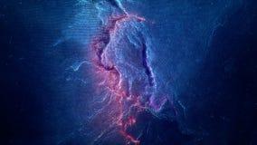 Vol spatial par la nébuleuse Voyage dans l'espace Espacez le fond d'animation avec la nébuleuse pourpre, beaucoup d'étoiles pour  Photo libre de droits