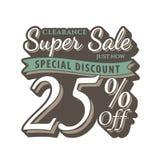 Vol. 2 Super Sale 25 percent heading design vintage style  for b Stock Photo