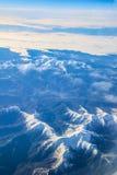 Vol vers la Madère au-dessus de l'Espagne Photo libre de droits