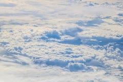 Vol vers la Madère au-dessus de l'Espagne Photographie stock