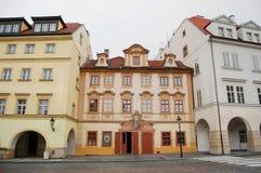 Vola del cerneho del restaurante U (el buey negro), calle de Loretanska Fotos de archivo libres de regalías