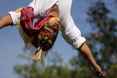 Volador de papantla. Foto horizontal ,  ritual de México, no model release Stock Image