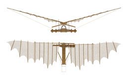 Voladora de Davinci aislado en la representación blanca 3d Imagenes de archivo