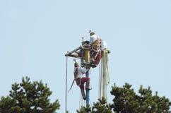 Voladores de Papantla, danza de los aviadores Foto de archivo
