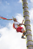 Voladores performing flying men show. Royalty Free Stock Image