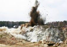 Voladura de la mina fotos de archivo