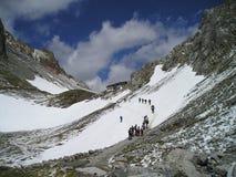 Volaia pass. Stock Photo