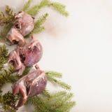 Volailles sauvages de chasse dans la cuisson E photos stock