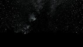 Volando attraverso i giacimenti di stella nello spazio profondo Punti tremuli magici o linee d'ardore di volo Animazione del cicl illustrazione di stock