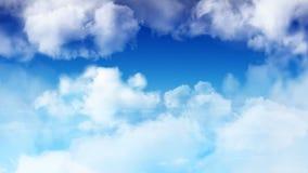 Volando attraverso il cielo blu stock footage